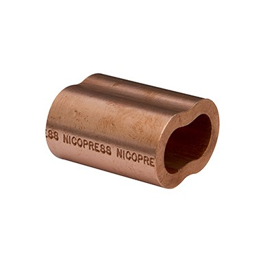 """5//16/"""" Copper Nicopress Swage Sleeves for Wire Rope"""